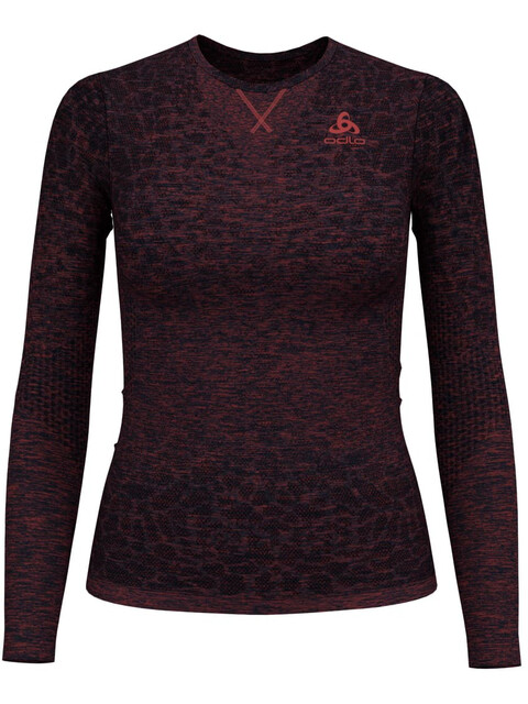 Odlo BL Blackcomb Light LS Top Crew Neck Women diving navy-baked apple